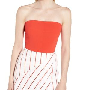 Lewit Ribbed Tube Top, NWT, Large in Red Poppy